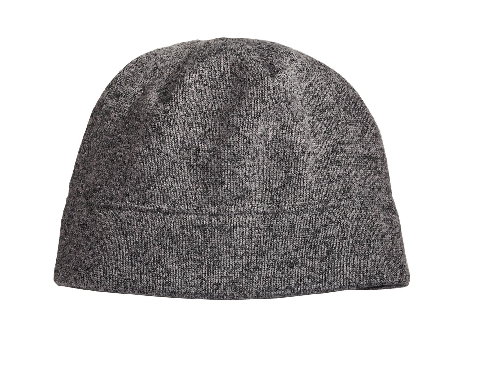 Port Authority Embroidered Heathered Knit Fleece Beanie - Queensboro abacaaa7bbd