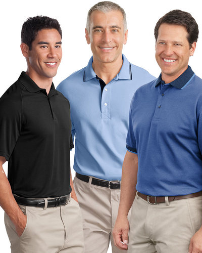 Embroidered Men's Premium Short Sleeve Polo Grab Bag