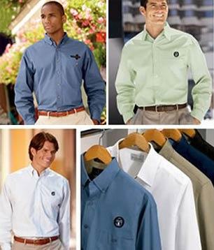 Embroidered Men's Long Sleeve Woven Shirt Grab Bag