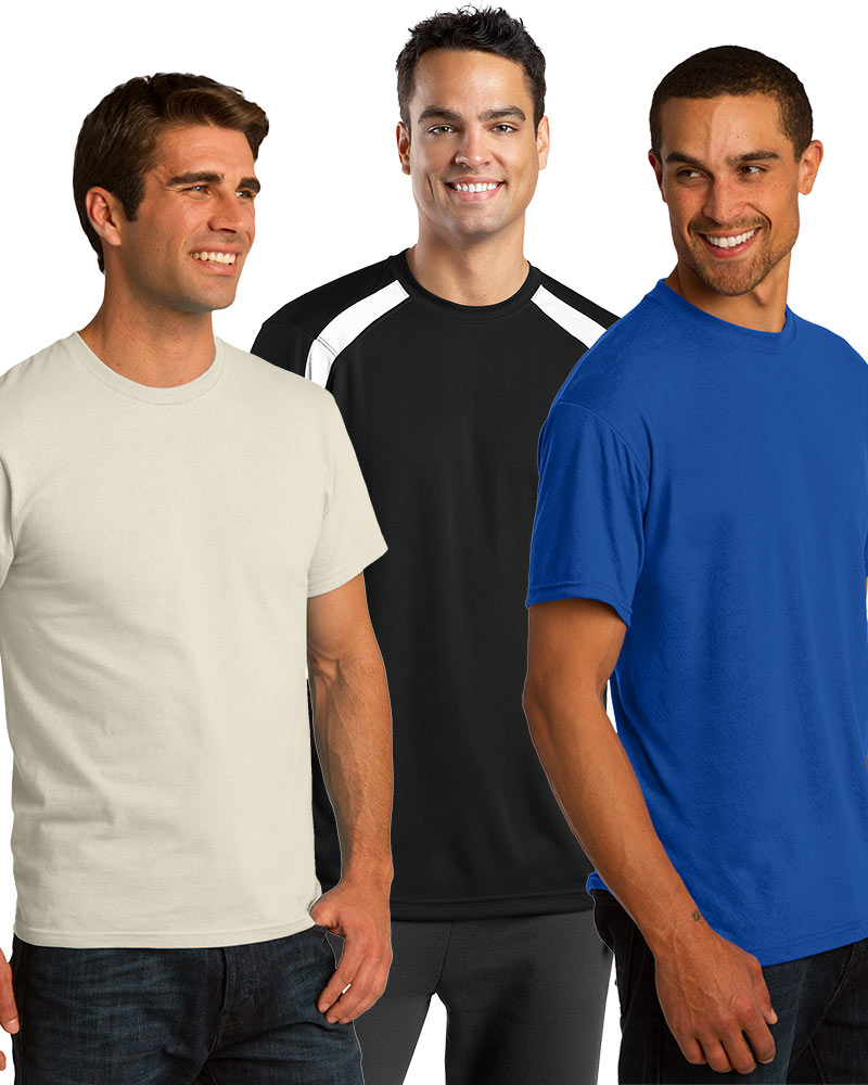Embroidered Men's Short Sleeve Tee Grab Bag