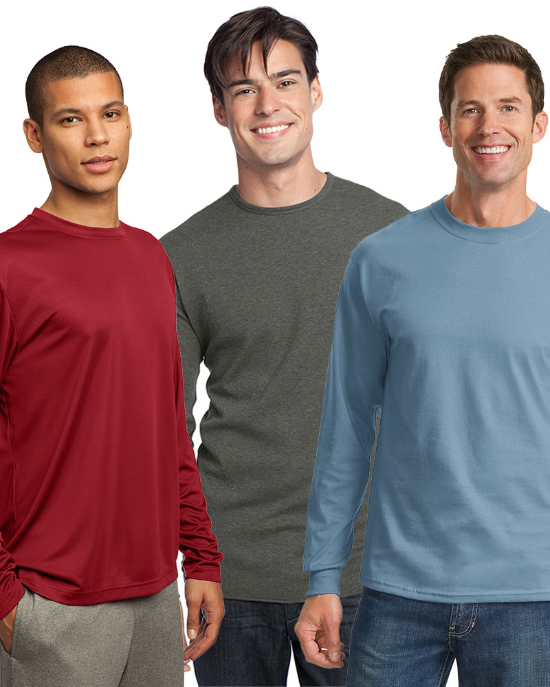 Embroidered Men's Long Sleeve Tee Grab Bag