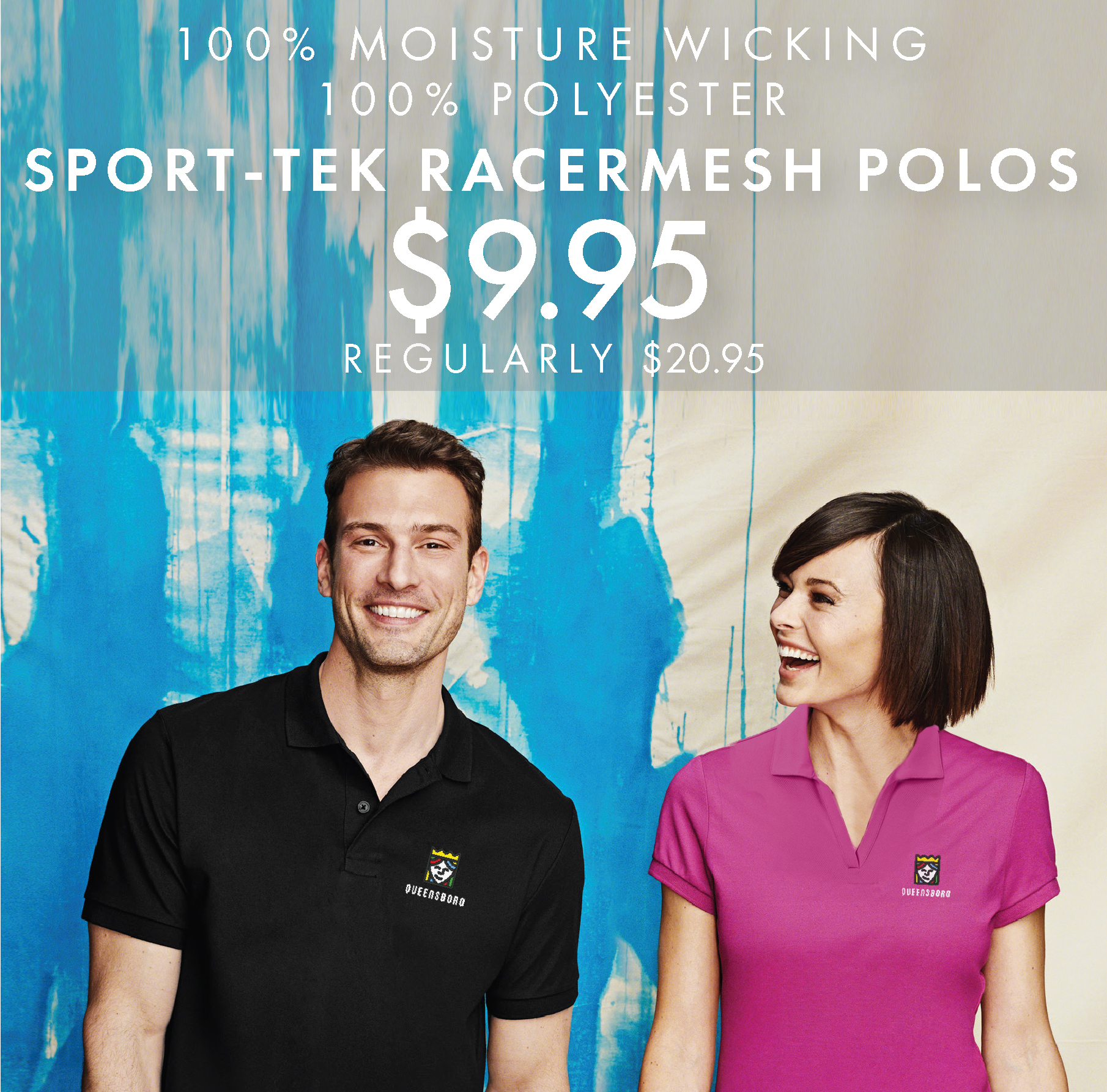 Custom Embroidered Sport-Tek Performance RacerMesh Polos