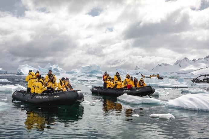 Zodiak Cruising in Antarctica