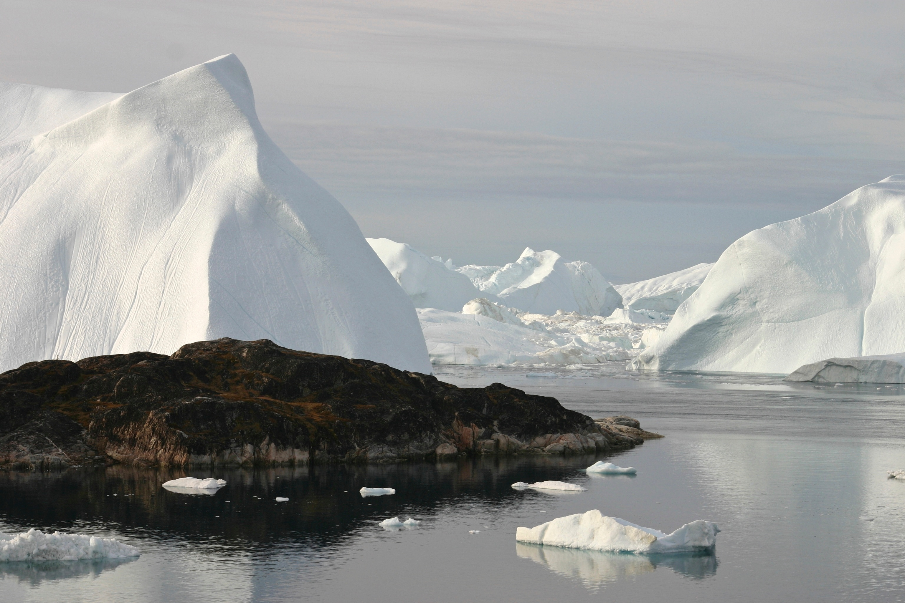 Greenland's wind, salt water and weather combine to shape the ice into fantastic sculptures.