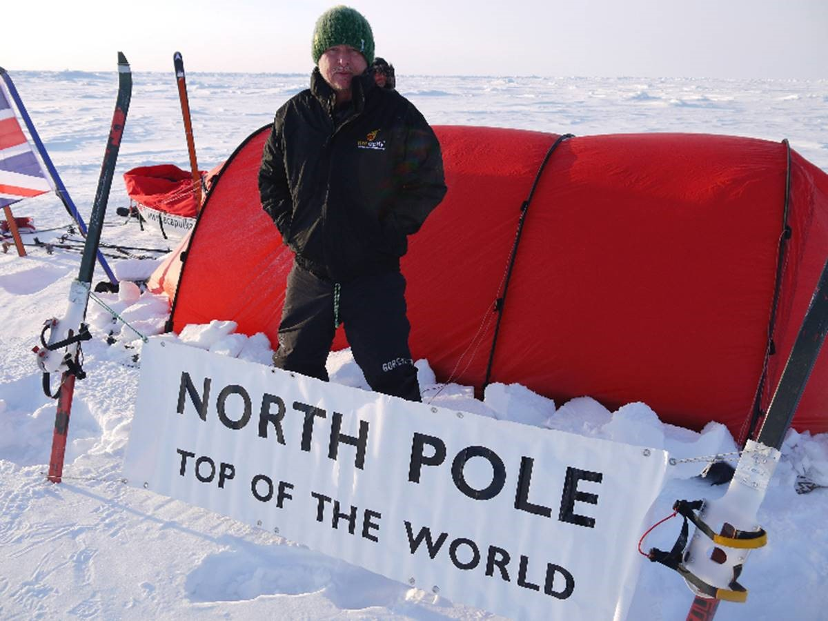 Arctic explorer Alan Chambers at the North Pole