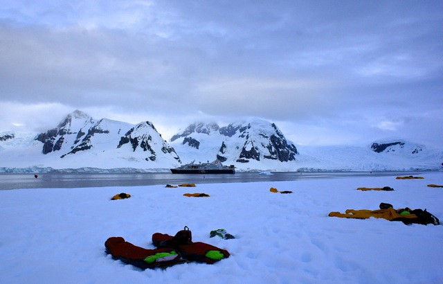 Bivvy bags keep Antarctic campers warm and dry, while sleeping outside on the 7th continent.