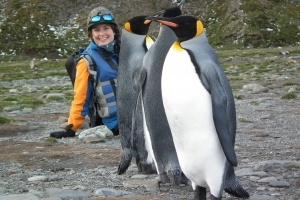 Quark guide Acacia gets up close and personal with penguins in Antarctica.