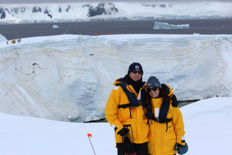 Jeff and Corina Hitchcock arrive in Antarctica.
