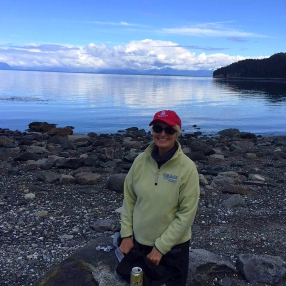 Frances Ulmer in the Arctic, near Lemesurier Island near Glacier Bay