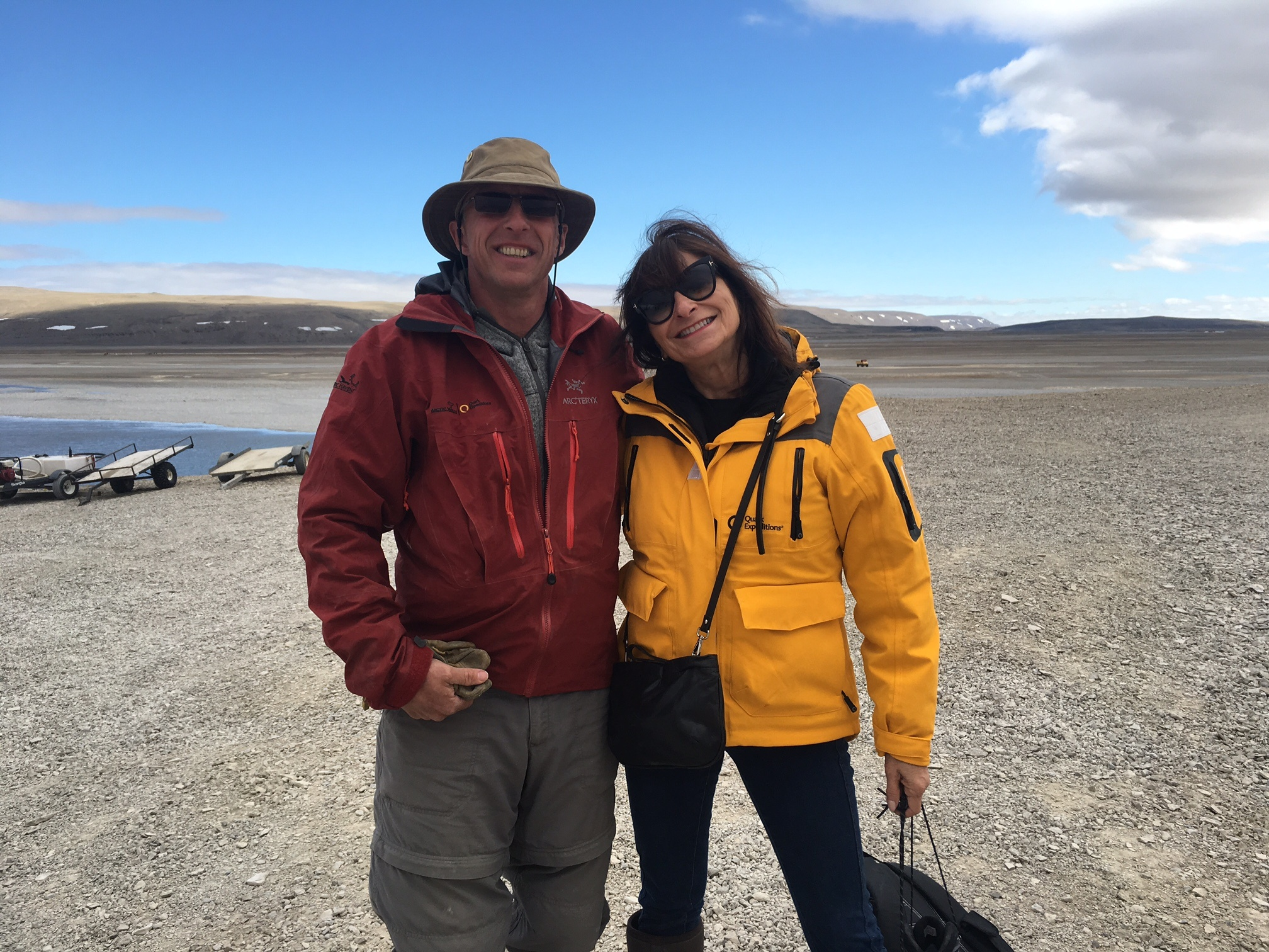 Jeanne Beker & Richard Weber at Arctic Watch Wilderness Lodge in the Canadian High Arctic
