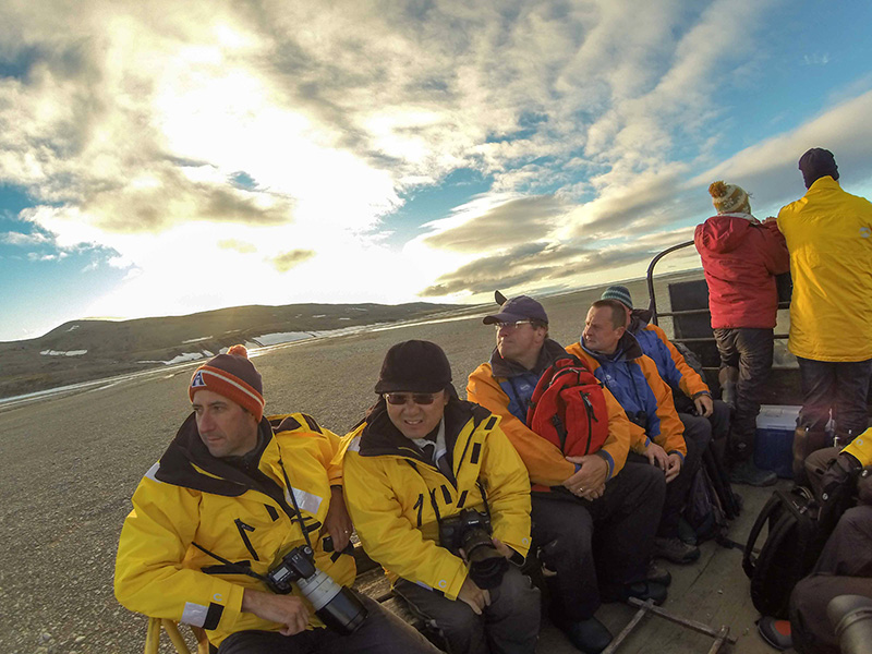 Quark Expeditions pax at Arctic Watch
