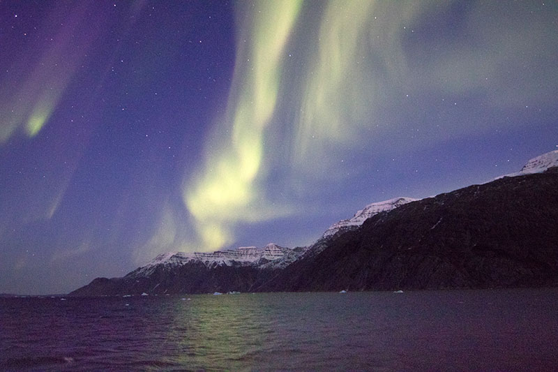 Aurora Borealis in East Greenland - Photo Credit: C. King