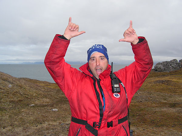 Quark Expeditions team member Dave Riordan