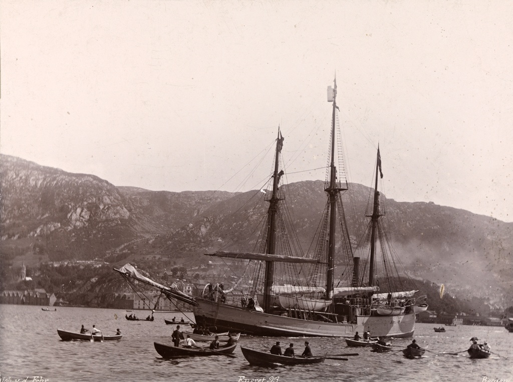 Fram leaves Bergen on 2 July 1893, bound for the Arctic Ocean