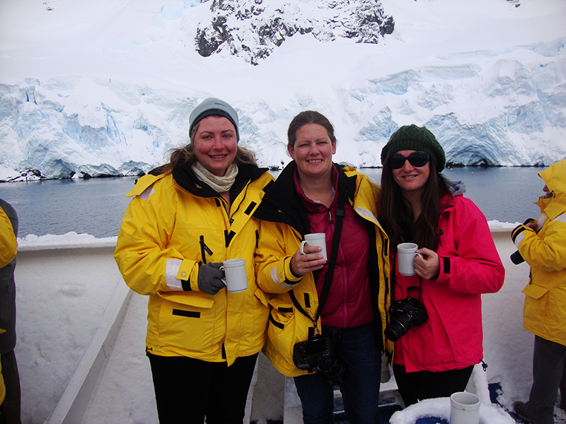 Naomi and Quark passengers in Antarctica
