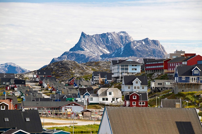 Arctic communities are often vibrantly colorful and friendly.