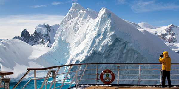 Keep your camera handy and spend as much time as you can on deck, taking in the spectacular Antarctic landscape.