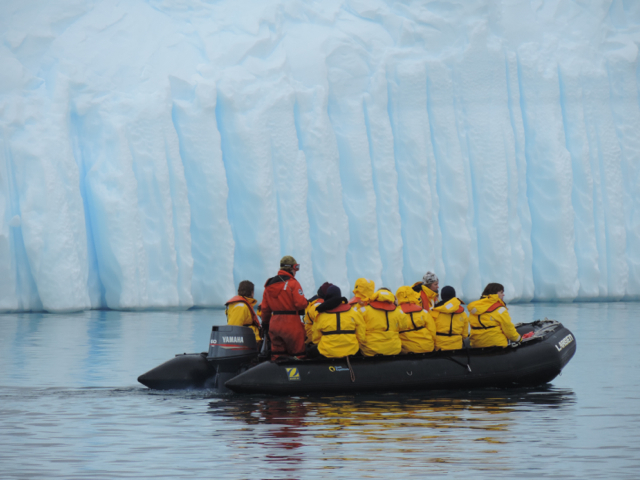 Zodiac cruising gives a whole new perspective on Antarctica, from the surface of the water.