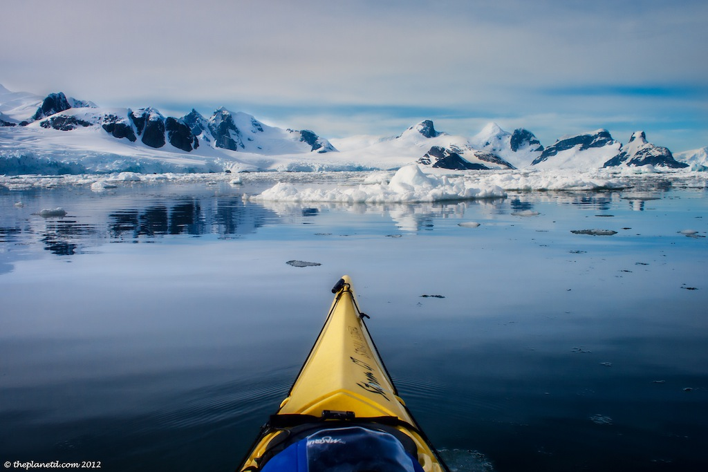 Kayaking is a great option for the adventurous in Antarctica.
