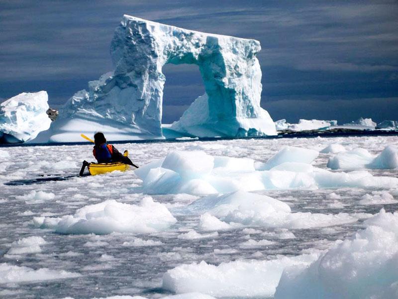 Polar kayaking