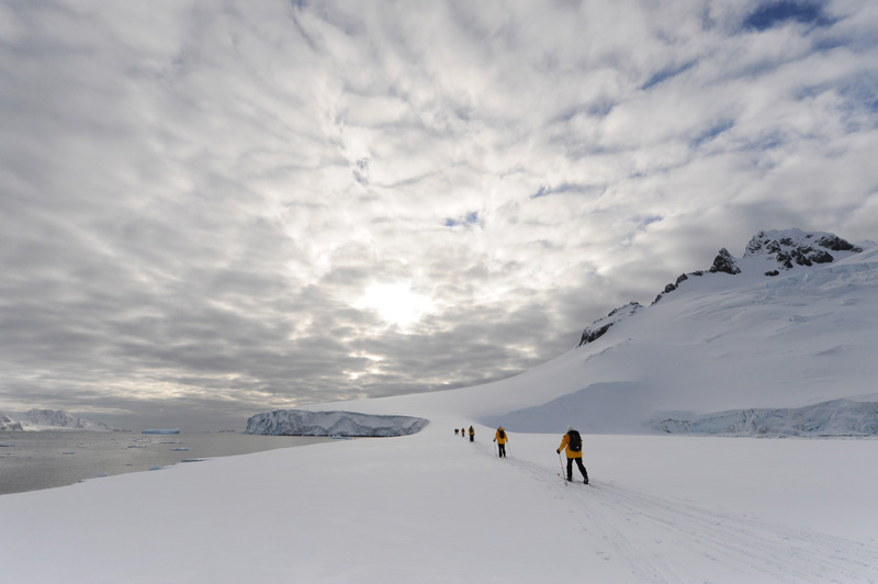 Skiing in Antarctica