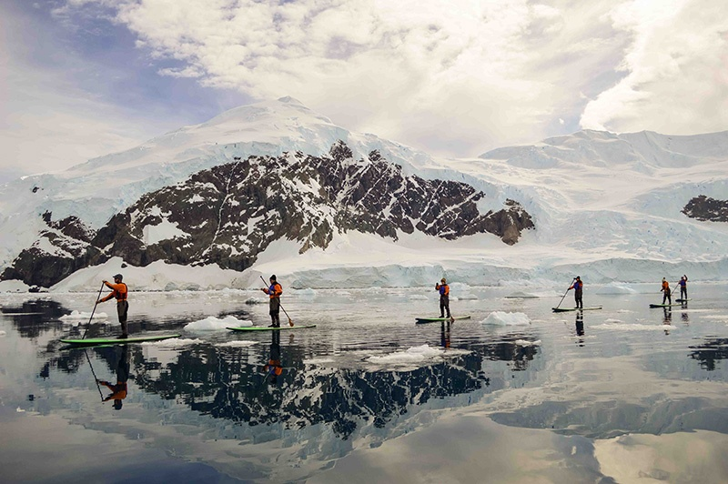 Stand Up Paddle-boarding in Antarctica