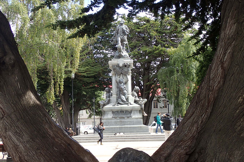 Magellan statue in Punta Arenas, Chile. Photo credit: D Johnson