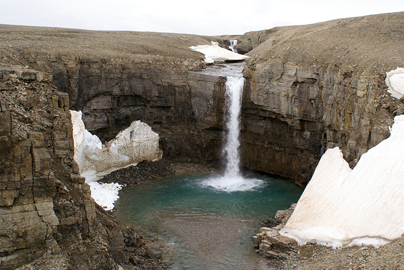 Visit spectacular canyons and remote waterfalls by ATV at Arctic Watch.