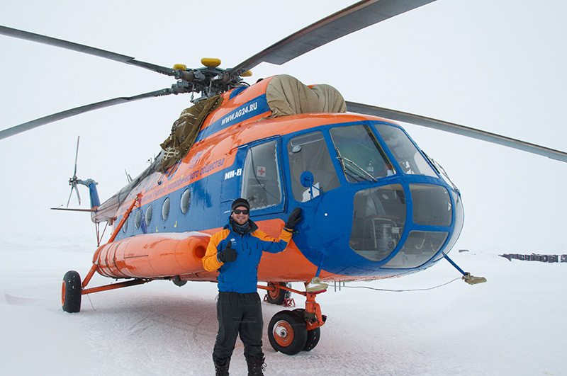 How can you reach the North Pole? This Mi8 helicopter can get you there.