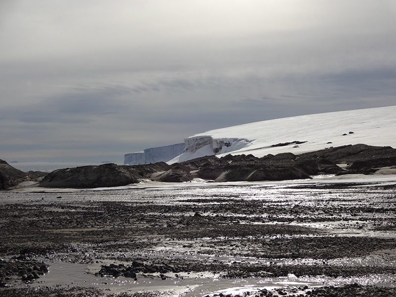 The snow-capped mountains of Franz Josef Land offer great scenic photography on your North Pole expedition.