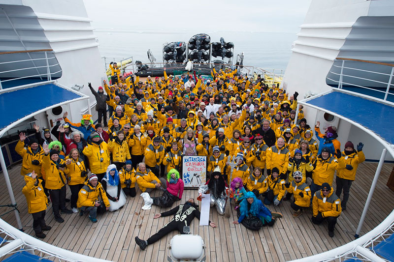 "Group photo from Jan 15, 2016 ""Crossing the Circle"" voyage"
