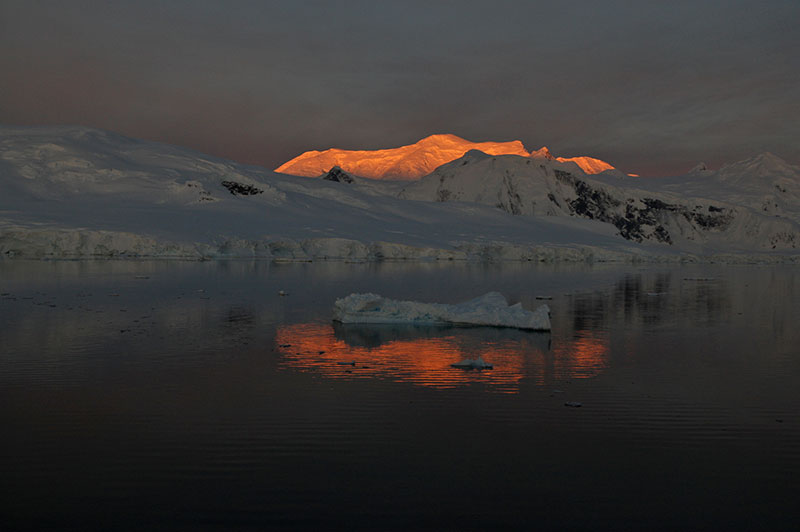 Partial eclipse in Antarctica - Photo Credit: Rick Price