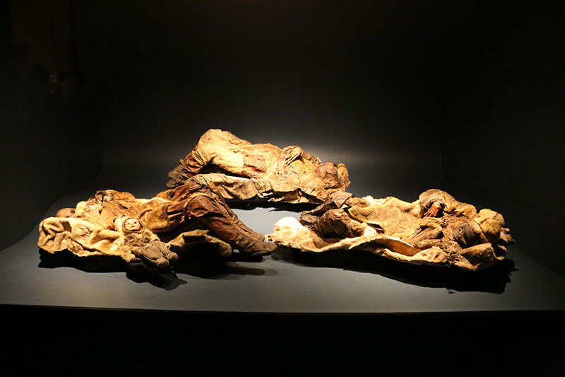 Mummies on display at the National Museum in Nuuk
