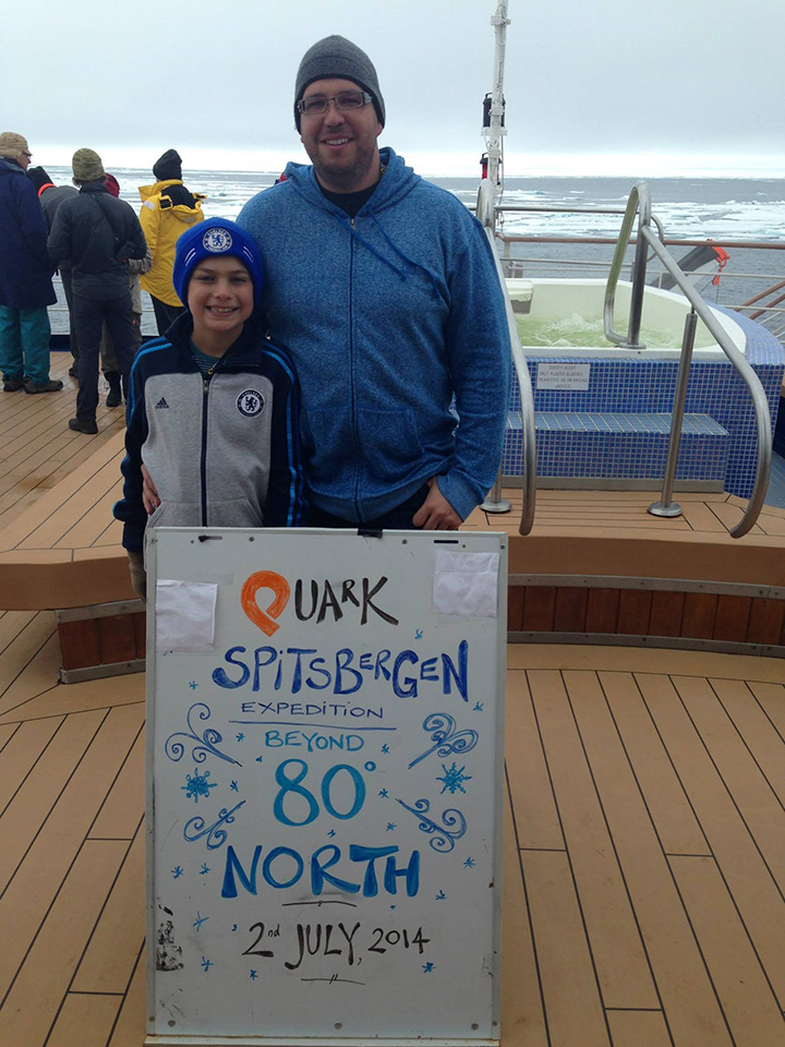 Paul and his son on Quark's Spitsbergen voyage