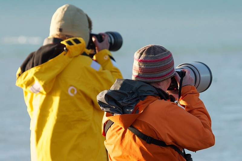 Photography is one of the top activities onboard small expeditions ships, both onboard and on shore landings.