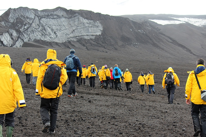 Quark hikers on Deception Island, Antarctica - Photo credit: Corina Hitchcock