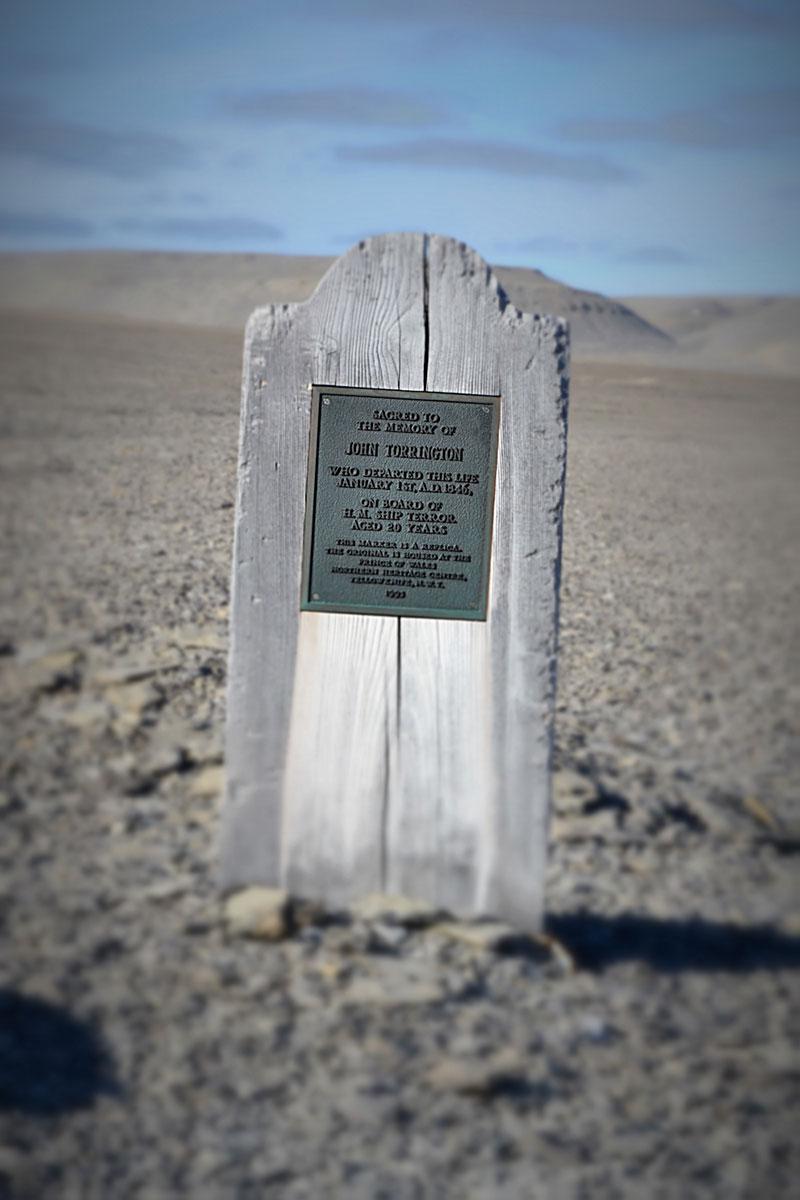 John Torrington's grave on Beechy Island, Nunavut
