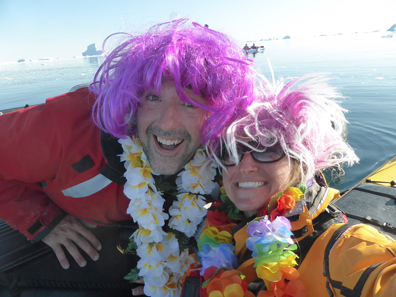 Quark Expeditions Dave Riordan and Val Lubrick