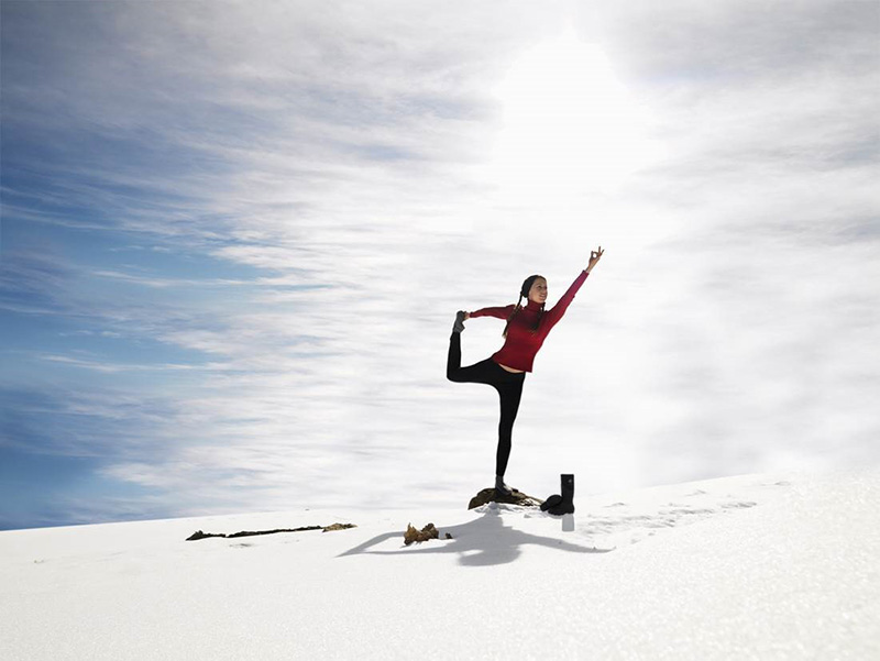 Yoga in Antarctica