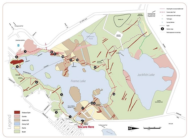 Frame Lake trail map