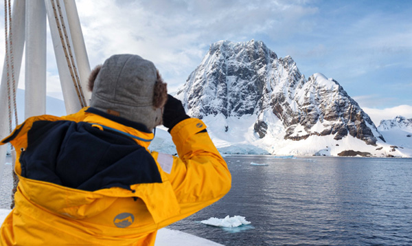 Each polar cruise ship's captain and crew are constantly scouting the water, ice and landing sites for ideal conditions.