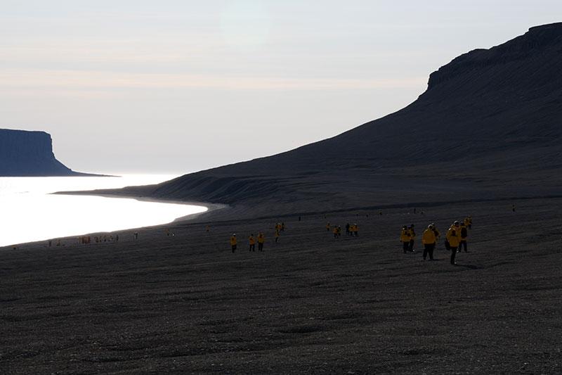 Beechy Island black sand