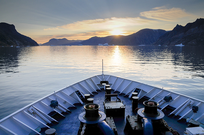 Small expedition ships offer comfortable accommodations and fantastic views of the polar regions from their open decks.