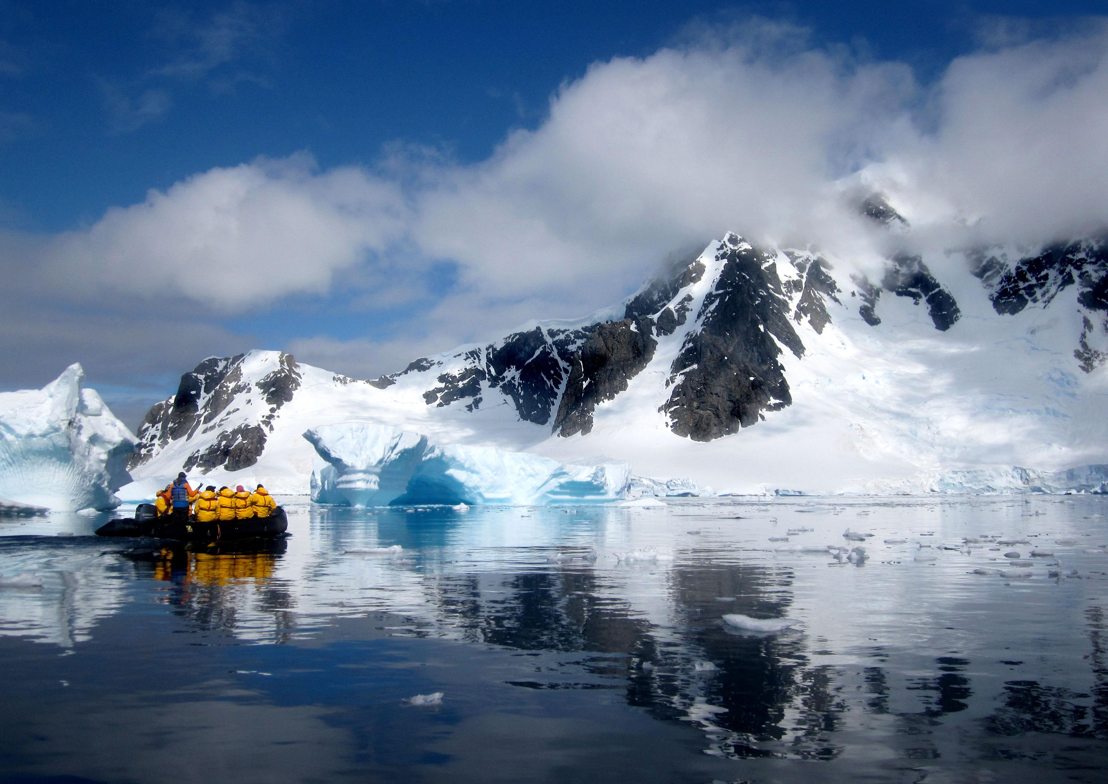 Zodiac Cruising Antarctica