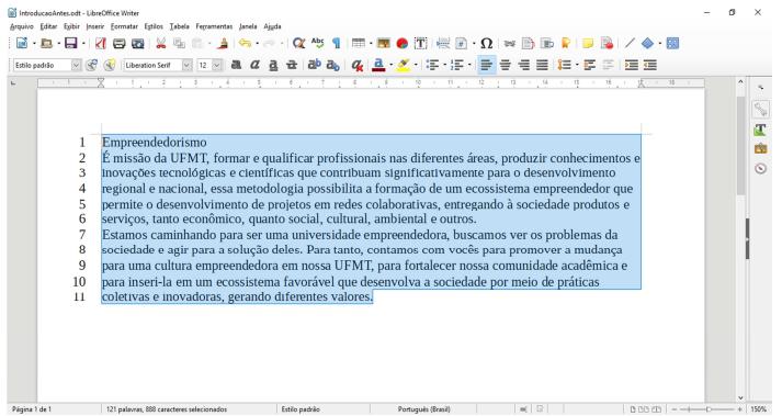 Questões de Noções de Informática - LibreOffice e BrOffice