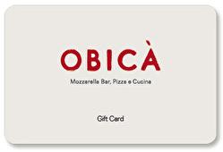Obica Mozzarella Bar Gift Card