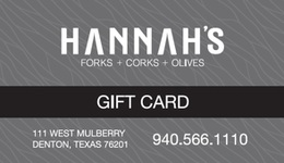 Hannah's Off the Square Gift Card