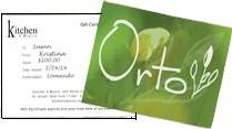 Orto Gift Certificate