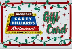 Carey Hilliard's Gift Card