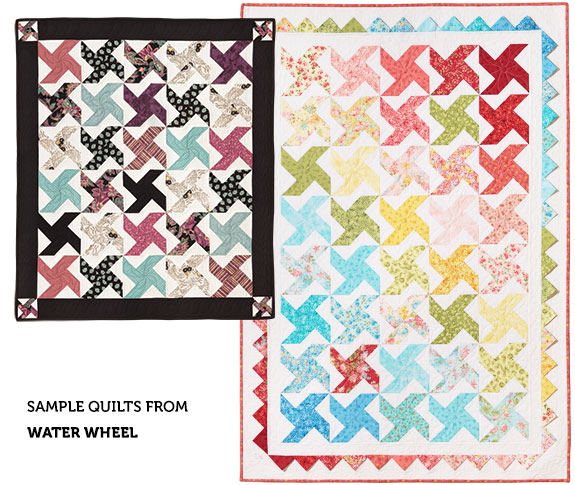 Examples of the 'Water Wheel' Quilt Pattern